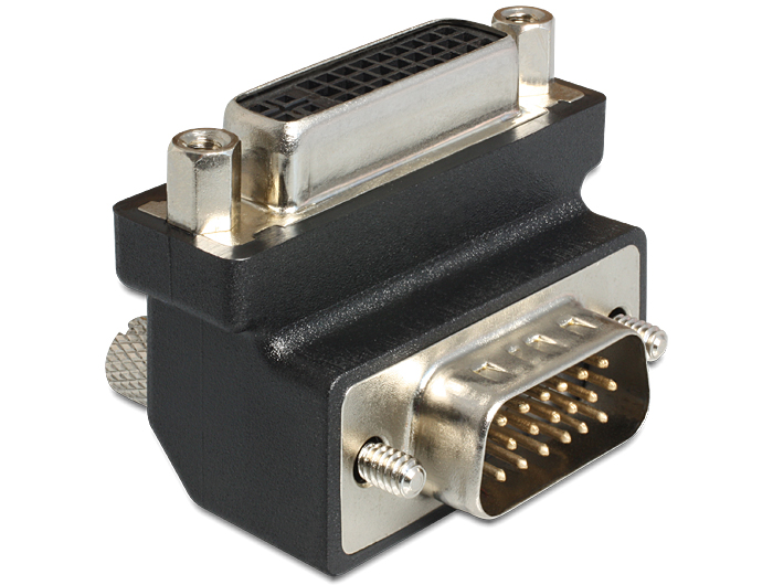 Adapter DVI-I(24+5) F - VGA (M) 90° (65425)