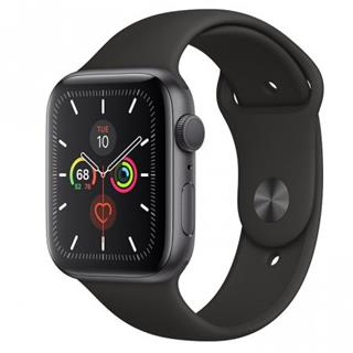 APPLE Watch Series 5 GPS, 44mm Space Grey Aluminium Case with Black Sport Band