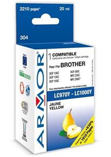 ARMOR cartridge pro BROTHER DCP-130/330 Yellow (LC-1000Y) - alternativní
