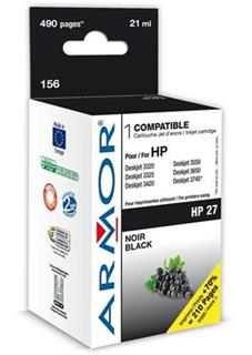 ARMOR cartridge pro HP 27 DJ 3325/3420/3550/PSC1215/1315 Black (C8727AE) - alternativní