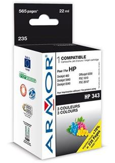 ARMOR cartridge pro HP 343 DJ 5740/6520/OJ7210 Color (C8766E) - alternativní