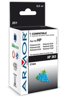 ARMOR cartridge pro HP 363 Photosmart 8250, PSC3210, C5180 Cyan (C8771E) - alternativní