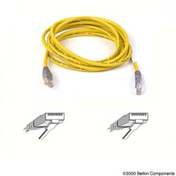 Belkin kabel PATCH UTP CAT5e CROSS 3m žlutý