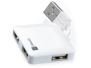 Connect IT CI-52 USB 2.0 HUB se 4 porty, bílý