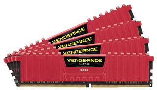 Corsair Vengeance LPX DDR4 16GB (4x4GB) 3000MHz CL15 Red