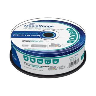 DVD+R MediaRange 8,5 GB 8x Double Layer Printable (25pack)