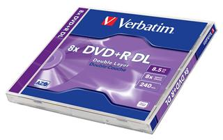 DVD+R VERBATIM 8,5GB 8x DoubleLayer jewel box 1kus