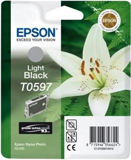 Epson T0597 Light Black Ultra Chrome K3 13ml pro Stylus Photo R2400 - originální