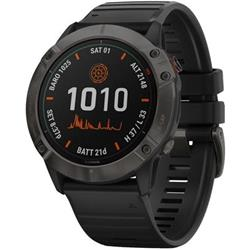 Garmin fenix6X PRO Solar EU, TitaniumGrayDLC/Black Band (MAP/Music)