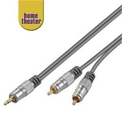 Home Theater HQ Kabel Jack 3,5mm - 2x CINCH, M/M, 10m