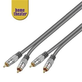 Home Theater Propojovací HQ 2x CINCH RCA - 2x CINCH RCA kabel 5m M/M