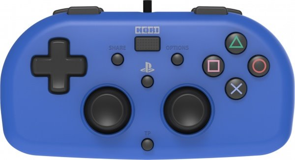 HoriPad Mini Wired Controller, modrý (PS4)