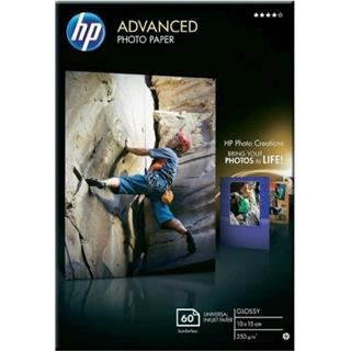 HP Advanced Glossy Photo Paper 250g/m2 10x15cm borderless 60 listů