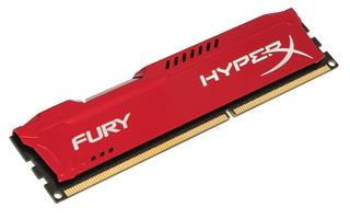 Kingston HyperX Fury 4GB 1866MHz DDR3 CL10 (10-10-10-30), červený chladič