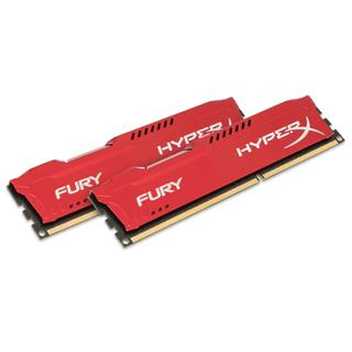 Kingston HyperX Fury 8GB (Kit 2x4GB) 1600MHz DDR3 CL10 Red Series, červený chladič
