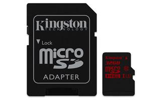 Kingston Micro SDHC 32GB (SDCA3/32GB) UHS-I Class 3 (čtení/zápis; 90/80MB/s + adapt