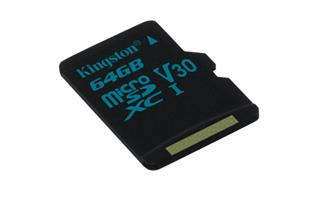 KINGSTON micro SDXC 64GB Canvas Go! UHS-I U3 (čtení/zápis: 90/45MB/s)