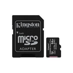 KINGSTON micro SDXC 64GB Canvas Select Plus A1 C10 Card (rychlost až 100 MB/s) + SD adaptér