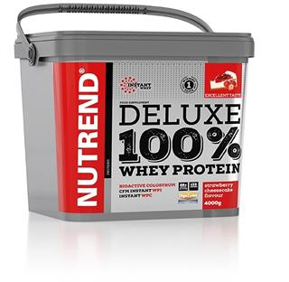 Nutrend DELUXE 100% WHEY, 4000g, jahodový cheesecake