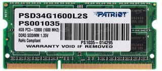 Patriot Signature DDR3 4GB 1600MHz Ultrabook SODIMM