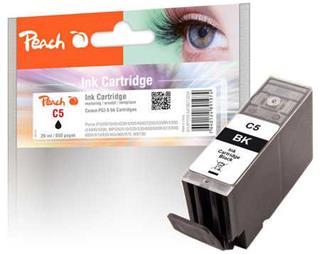 Peach C5 černá s čipem kompatibilní s PGI-5bk, 0628B001