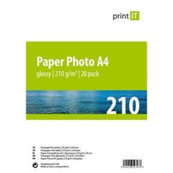 Print IT papír Photo A4 210 g/m2 Glossy 20pck/BAL