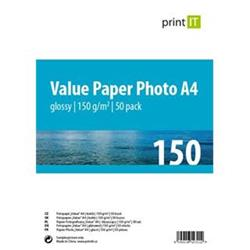 Print IT Value papír Photo A4 150 g/m2 Glossy 50pck/BAL