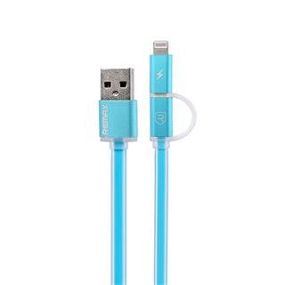 Remax Aurora Apple Lightning + MicroUSB datový kabel USB, modrý