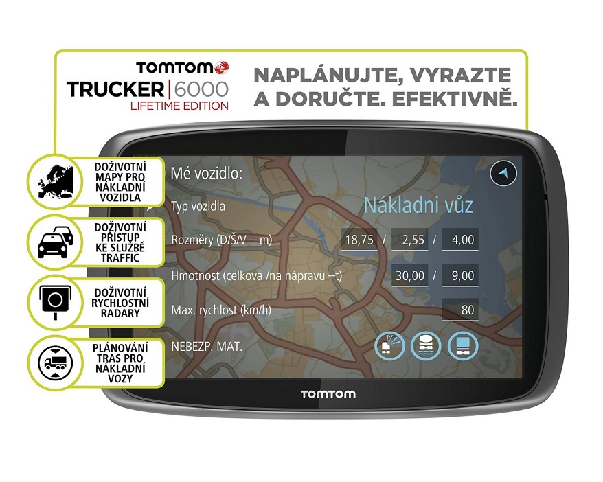 tomtom trucker 6000 lifetime services lifetime mapy t s bohemia. Black Bedroom Furniture Sets. Home Design Ideas