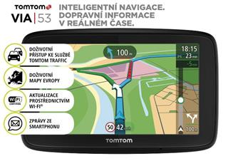 TomTom VIA 53 Europe (48 zemí) LIFETIME mapy