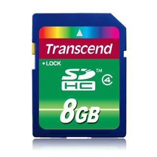 Transcend Secure Digital SDHC SD2.0 8GB Class4 (TS8GSDHC4)