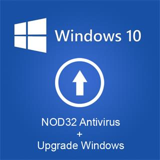 Upgrade na Windows 10 zdarma + NOD32 na rok