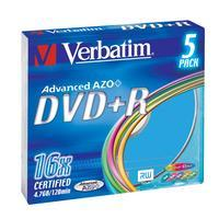 Verbatim DVD+R 4,7GB 16x Slim Colour (5-pack)