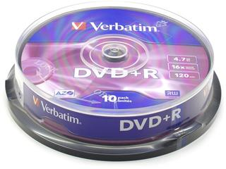 Verbatim DVD+R 4,7GB 16x SPINDL (10pack)