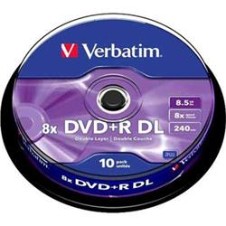 Verbatim DVD+R 8,5GB 8x Double Layer 10 ks