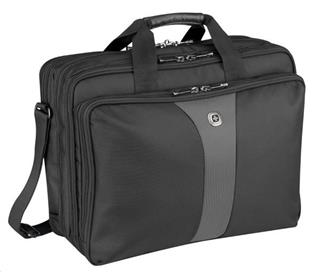 "Wenger LEGACY Double Gusset, Top Loading Computer Case 17"" Black"