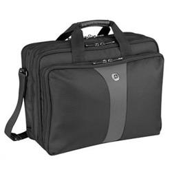 """Wenger LEGACY Double Gusset, Top Loading Computer Case 17"""" Black"""